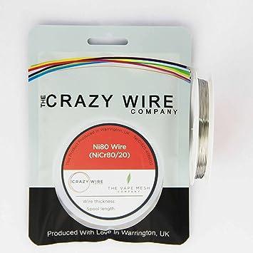 NI80 Draht ? 30 AWG (0,25 mm) ? nicr8020 80% Nickel/20% chrom ? 10 ...