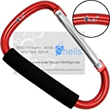 Shells Red Largest Jumbo Snap Hook Stroller Hook Hanger Bags Holder Carrier