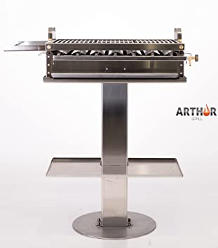 Arthur Grill Barbacoa a gas desmontable de acero inoxidable