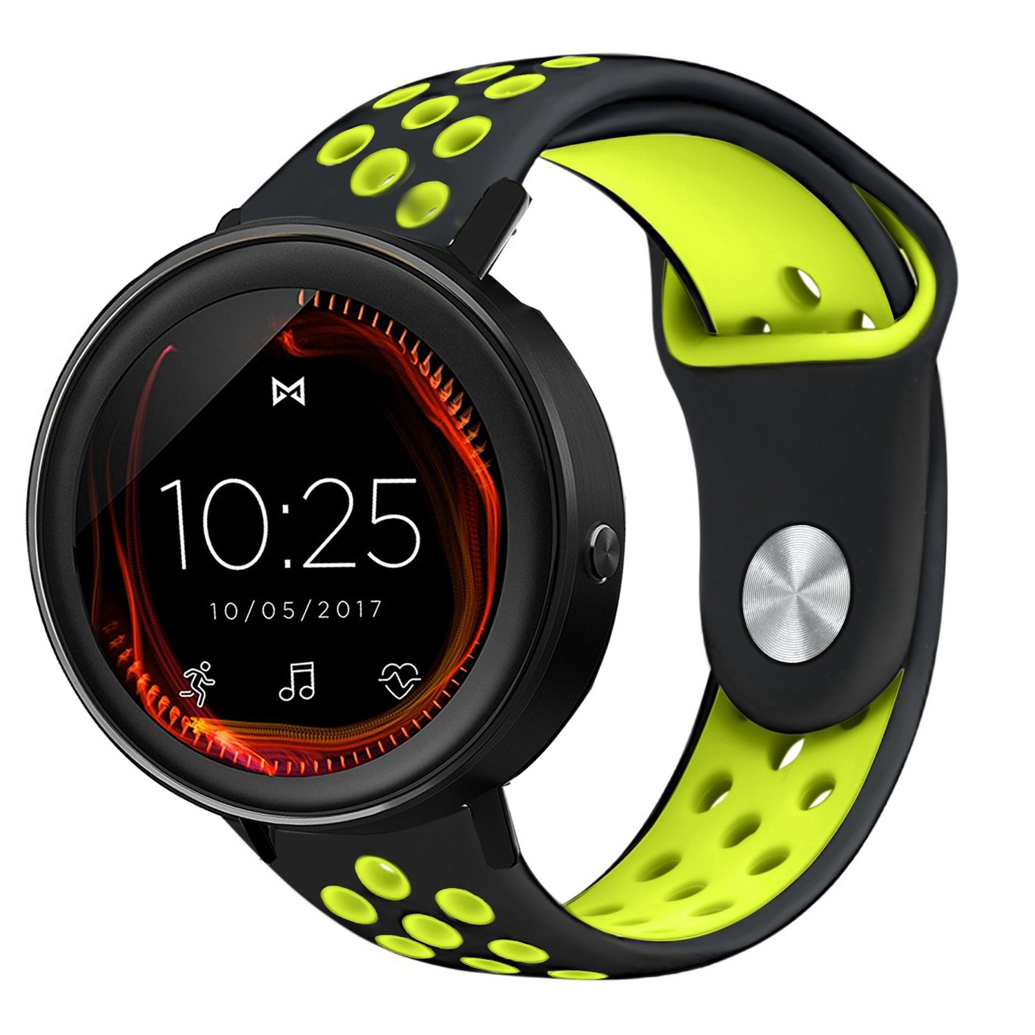 for Misfit Vapor Band, Lamshaw Silicone Soft Band with Ventilation Holes Replacement Straps for Misfit Vapor SMARTWATCH/Misfit Wearables Fitness ...