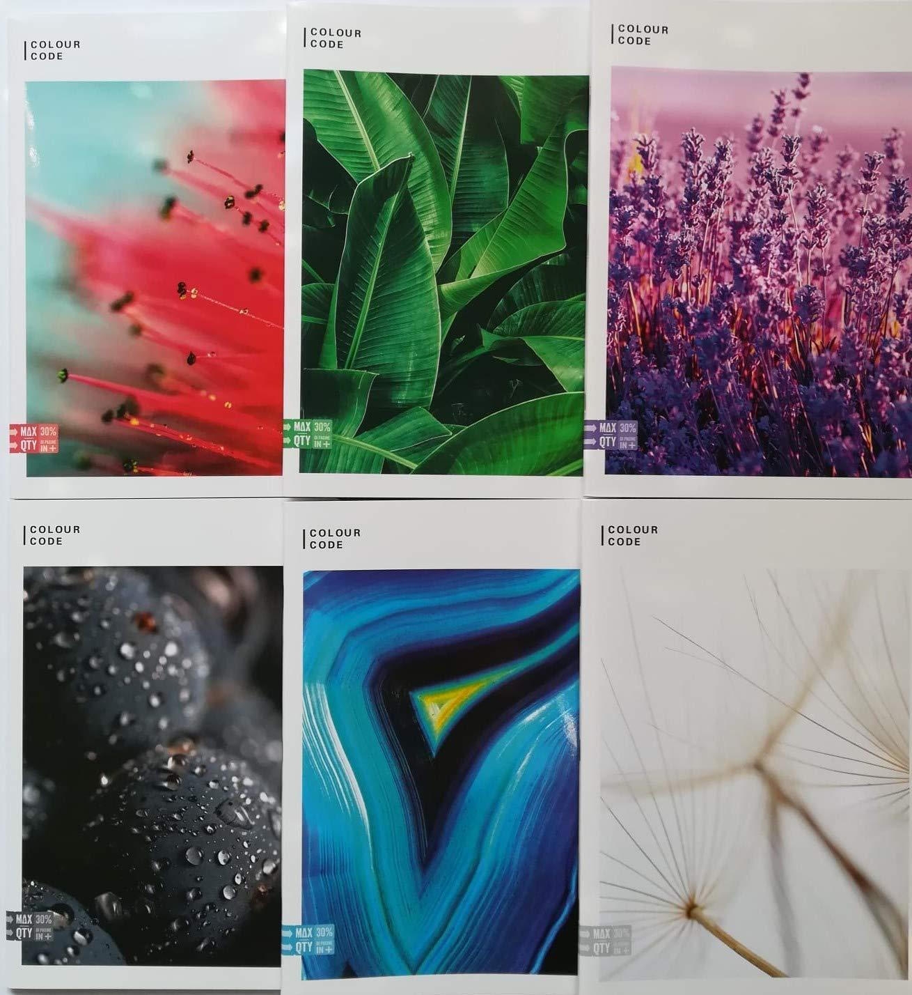 1 RIGO max qty 30/% fogli quadernone 5 pezzi coll scuola 2019//20 Quaderno maxi SEVEN colour code NATURE
