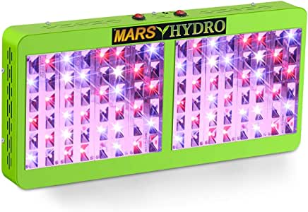 MARS HYDRO Reflector 480W Led Grow Light for Indoor Plants Bloom Veging Flowering Full Spectrum Grow light for Hydroponics Greenhouse