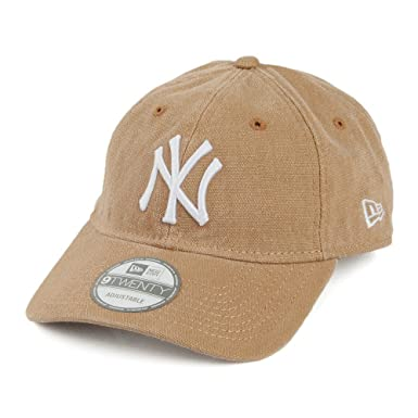 New Era 9TWENTY New York Yankees Baseball Cap - Vintage Cloth - Tan Tan  Adjustable e65e90a51
