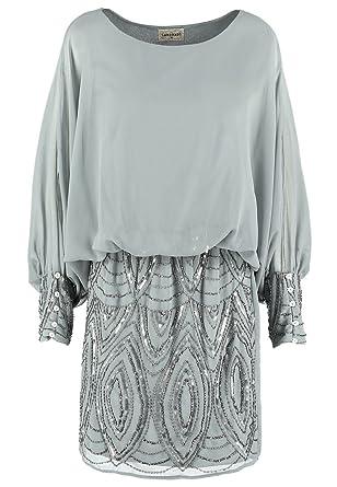 Lace & Beads ROKSANA Damen Kleid Cocktailkleid Festliches Kleid Grau ...