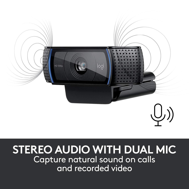 appels et enregistrements vid/é o en haute d/é finition 1080p avec deux micros st/é r/é o Webcam Logitech C920 HD Pro Noir 960-001055 B0083RBVNW casque video conférénce