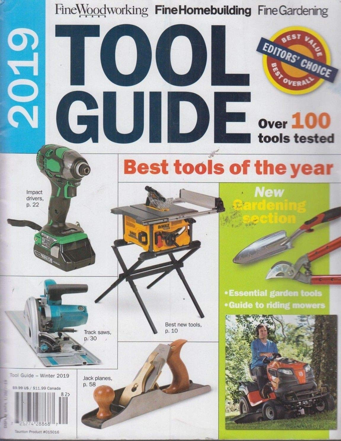 2019 Tool Guide Fine Woodworking Winter 2019: Amazon com: Books