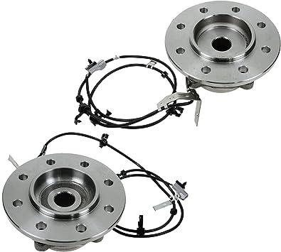 TRQ Front Wheel Hub /& Bearing Pair for 00-01 Dodge Ram 1500 Pickup Truck 4WD
