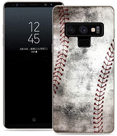san francisco 6b9cb 59909 Note 9 Case/IWONE Protective Durable TPU Rubber Fashion Designer Cover Skin  Compatible for Samsung Note 9 for Galaxy Note9 + Creative Vintage Baseball  ...