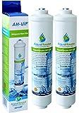 2x AquaHouse UIFH Kompatibel für Haier 0060823485A Kemflo Aicro Wasserfilter für Haier, CDA, Firstline, Frigistar Kühlschränke