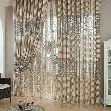 . Amazon com  Curtain Ikea   Grey Striped Pachira Drape Balcony