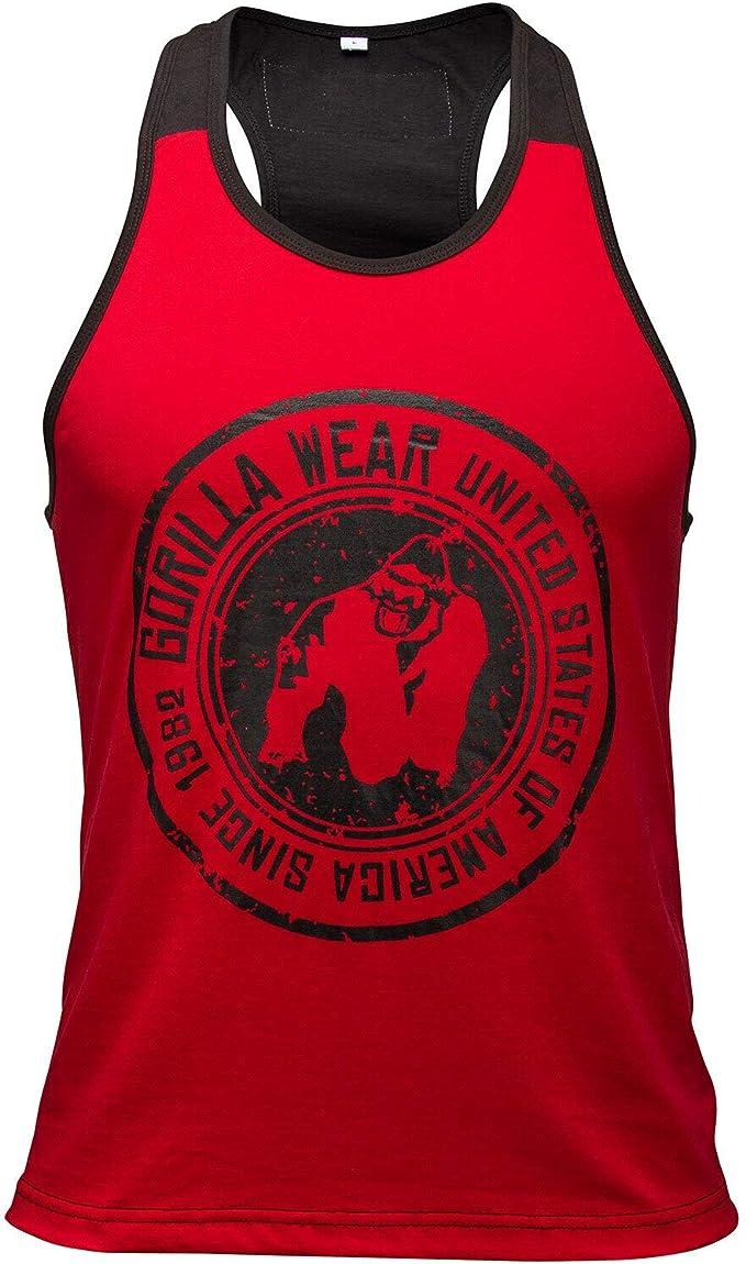 Roswell Gorilla Wear Canotta Stringer Roswell Camicia Bodybuilder Gym Bodybuilder in Cotone