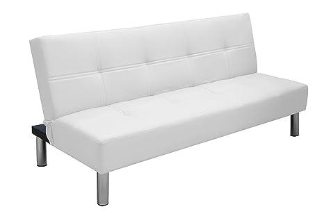 Divano Reclinabile Due Posti : Havana divano letto posti reclinabile in ecopelle con gambe in