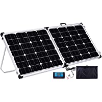 Gencity 160W Folding Solar Panel Kit 12V Mono Camping Caravan Boat Charging Power Battery USB
