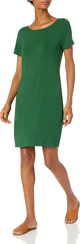 Amazon Brand - Daily Ritual Women's Jersey Ballet-Back T-Shirt Dress