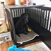 Amazon.com: Newport Dog Crate Kennel Cage Bed Night Stand