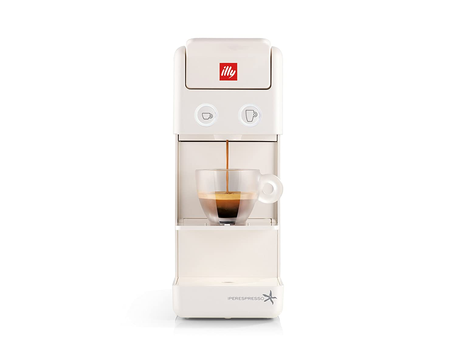 Capsule coffee Machine ILLY model Y3.2 Iperespresso color White, coffee machine illy iperespresso Y3.2, capsule machine ideal for espresso coffee and american coffee
