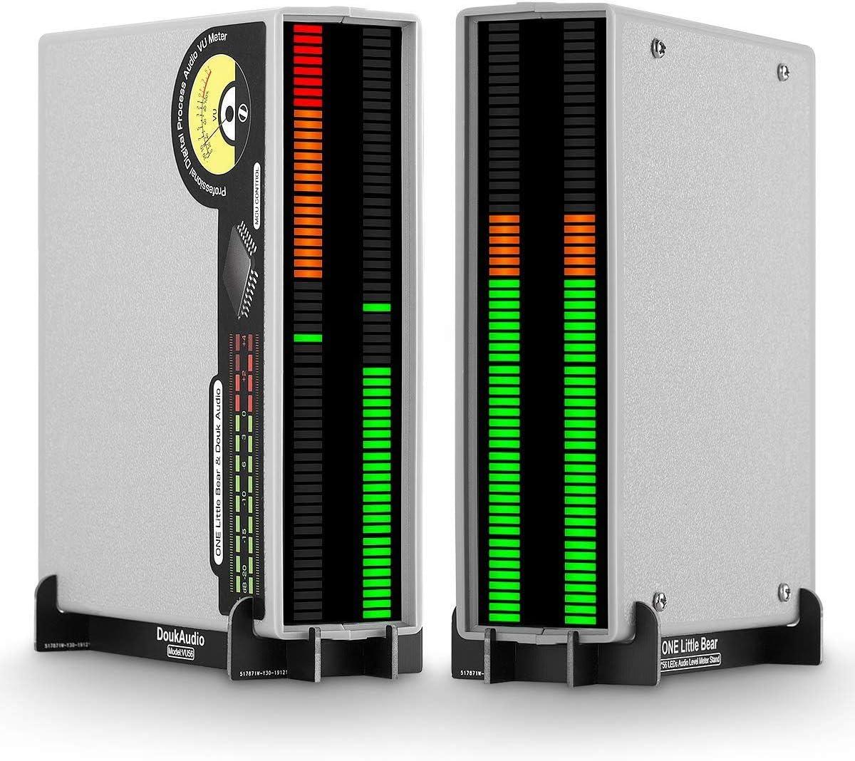 Indicador de Sonido est/éreo 56 bits, LED, con indicador de Espectro Musical Color Verde y Naranja Douk Audio