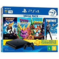 Console PlayStation 4 1TB Bundle Hits Family - Ratchet and Clank, Spyro Reignited Trilogy, Crash Bandicoot N'sane…