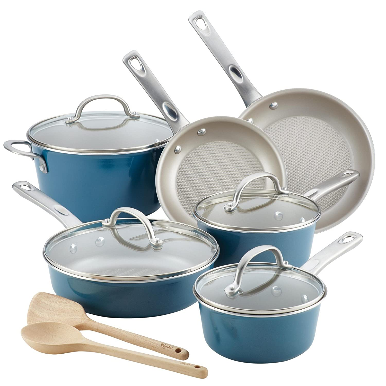 Amazon.com: Ayesha Curry 12pc Aluminum Cookware Set: Electronics
