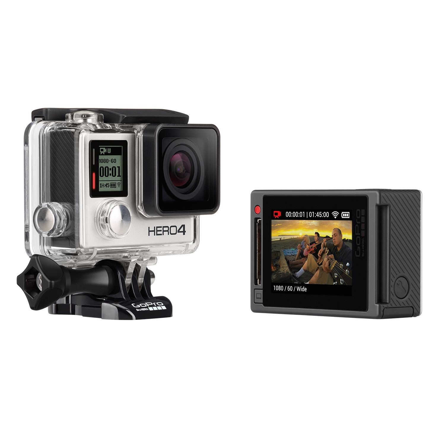amazoncom gopro hero 4 silver edition 12mp waterproof sports action camera bundle with 2 batteries camera photo