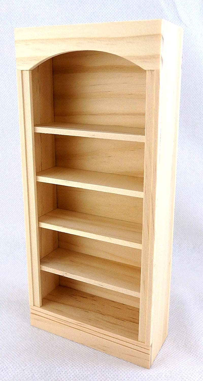 Houseworks, Ltd. Dolls House Miniature Furniture Unfinished Natural Wood Bookcase Shelf Unit