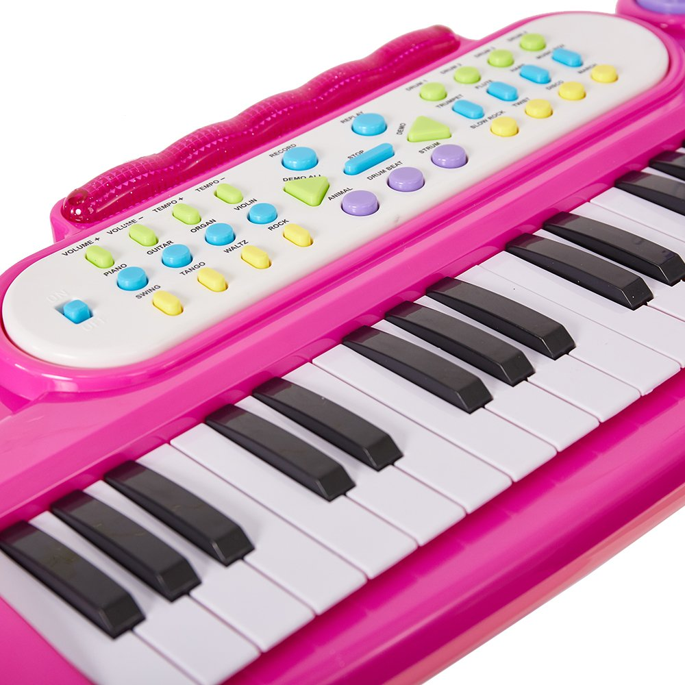 COLOR TREE Musical Kids Electronic Keyboard 37 Key Piano with Microphone by COLOR TREE (Image #3)