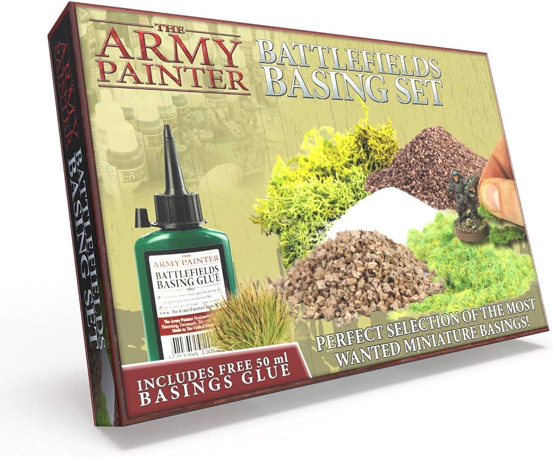 🎨 The Army Painter – Battlefields Basing Set | Material escenográfico y base de Diseño| Guía completa y Pegamento GRATIS |Wargames|Juegos de Mesa, Juegos de Modelado y Pintura de Figuras Miniatura