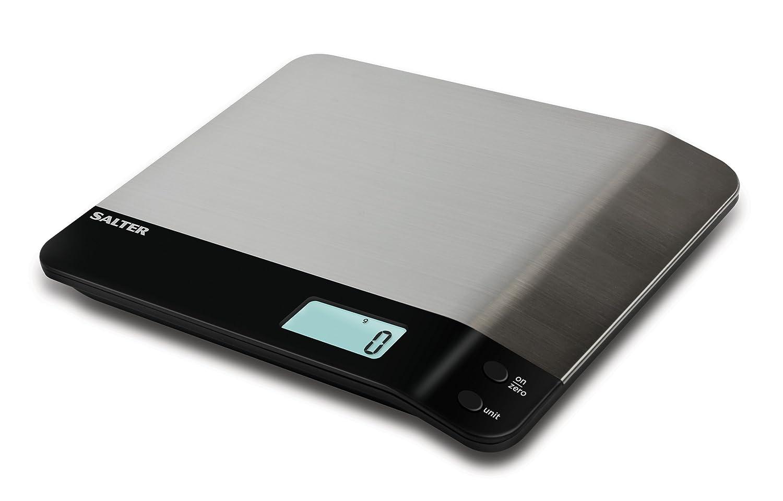 Salter Steel - Báscula de cocina digital, sistema Aquatronic, 5 kg, color negro: Amazon.es: Hogar