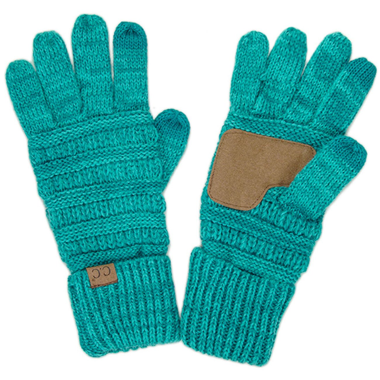 ScarvesMe CC Two Tone Soft and Warm Knit Gloves (15)