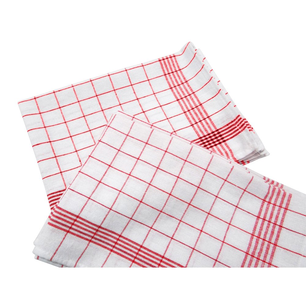 Check Design 15.5''x 23.5'' Linen Cotton Napkin, 4 Pack,Kitchen Towels, Dish Cloth,Dish Towel & Tea Towels, Perfect for Fall, Brunch, Weddings, Dinner Parties, or Everyday Use, Red