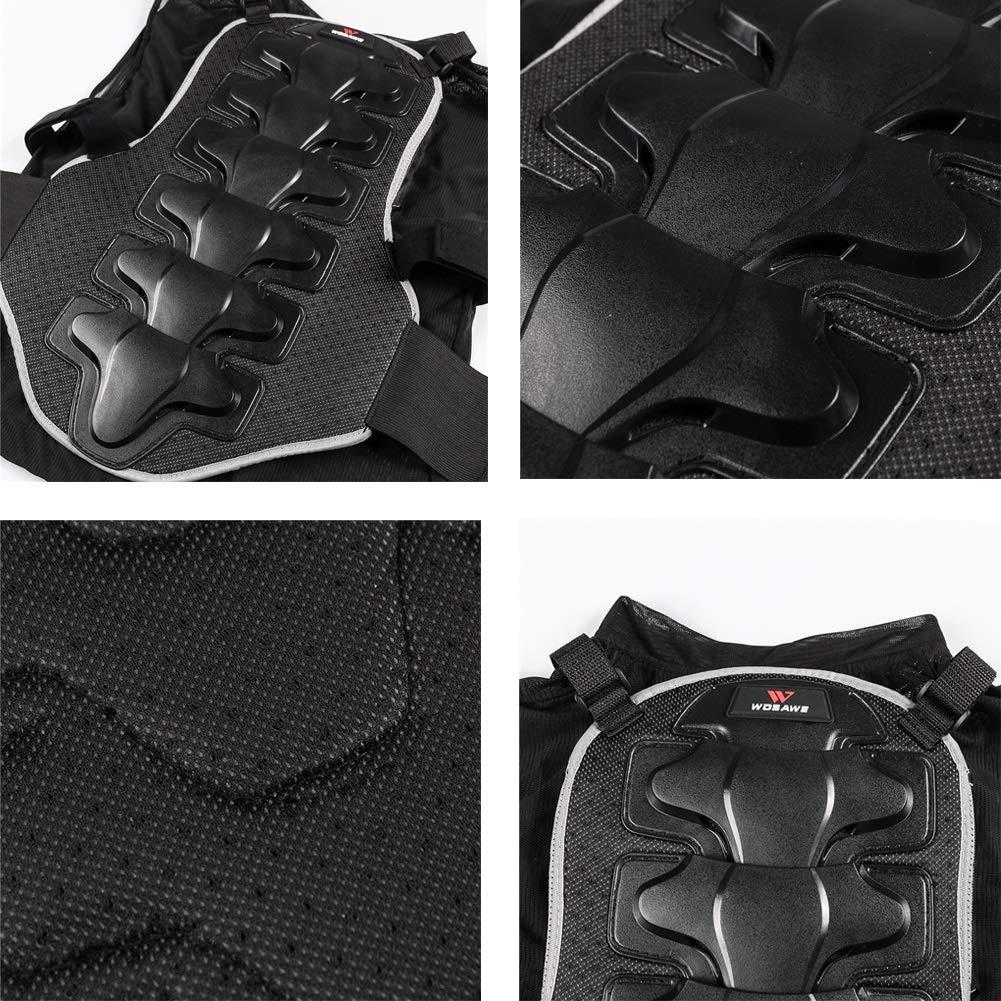Color : Black, Size : M LXC Motocross Senza Maniche Armatura Pettorina Protettiva Paraschiena Gilet Protettivo Tuta Anti-Caduta Armatura