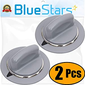 Ultra Durable WE1M964 Dryer Timer Knob Replacement Part by Blue Stars – Exact Fit For GE Dryers - Replaces 1811122 AP4980845 PS3487132 - PACK OF 2