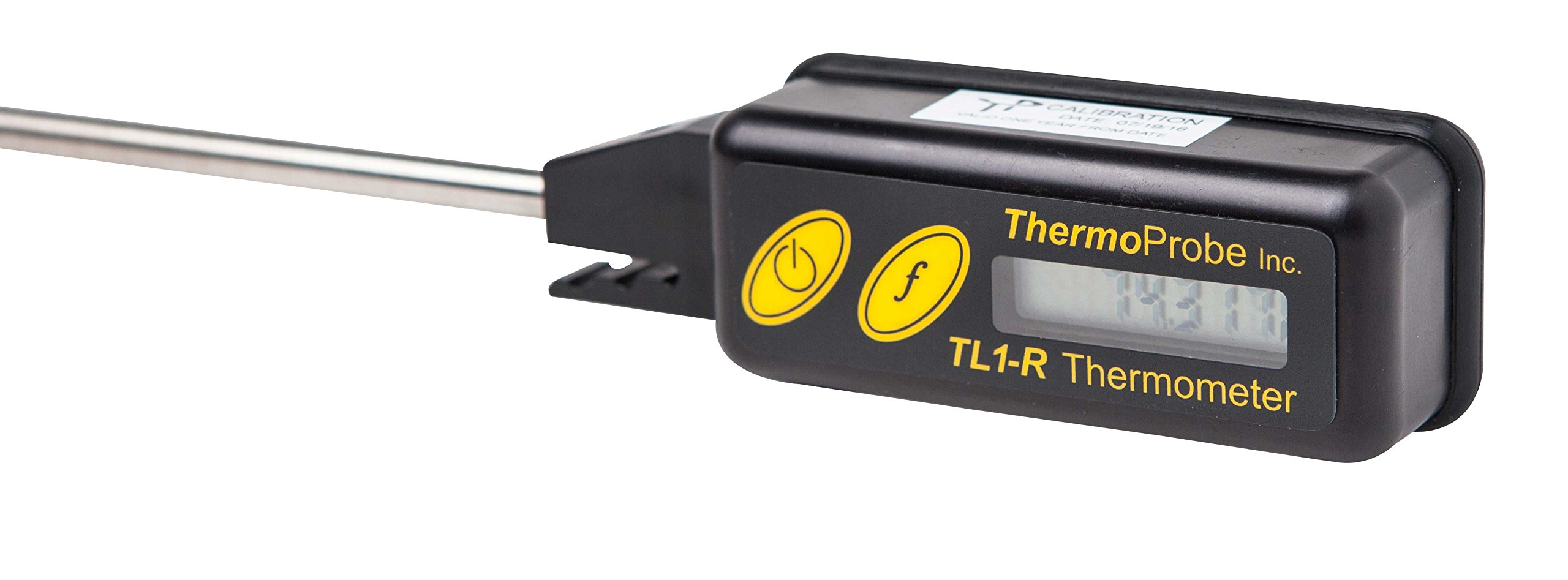 ThermoProbe TL-1R High Precision Digital Thermometer with 8'' Stem and NIST traceable, ISO/IEC 17025 Accredited Report of Calibration in Fahrenheit