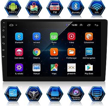 ANKEWAY 2 DIN 10.1 Pulgadas Android 9.1 Radio de Coche Navegación ...