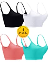 OTIOTI Women Seamless Bras 4 Pack Wirefree Padded Everyday Sleep Bra Comfort Bralette