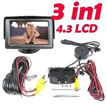 BW Nuevo 3 en 1 alarma de sonido CCD HD coche de copia de ...