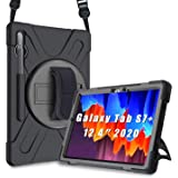 """ProCase Galaxy Tab S7 Plus 12.4"""" 2020 Case with S Pen Holder (Model SM-T970/T975/T976/T978), Rugged Heavy Duty Shockproof Cas"""