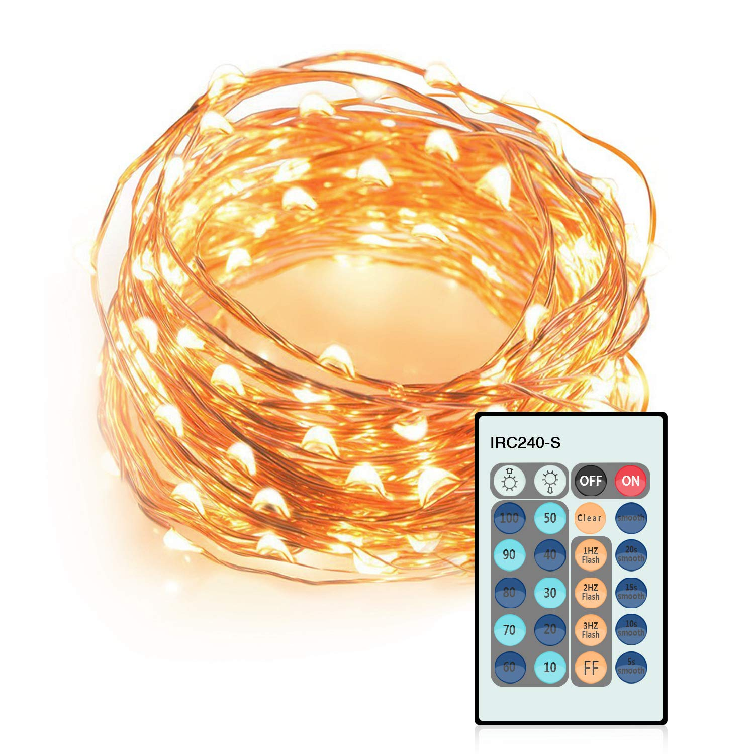 Decorative Lights, LDesign Christmas Lights 100 LED 33ft String Lights with Remote Control for Party