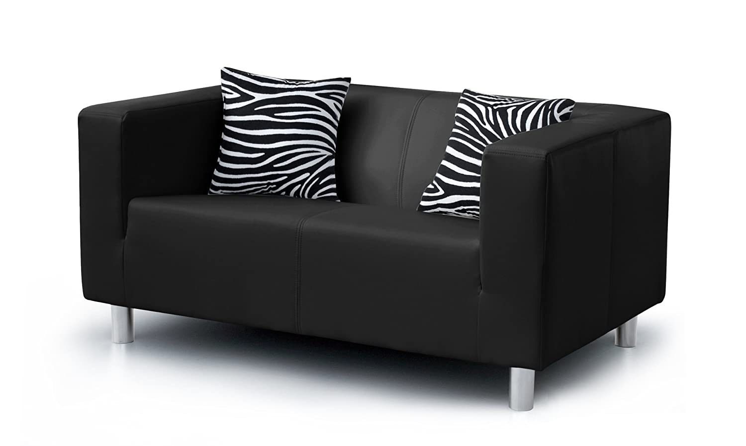 ledersofa schwarz 2 sitzer. Black Bedroom Furniture Sets. Home Design Ideas