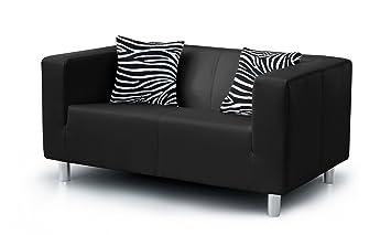 2 Sitzer Sofa Cube 135 X 85 Cm Pu Schwarz Amazonde Küche Haushalt