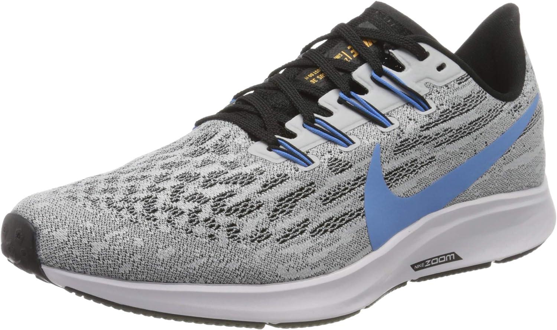 Nike Air Zoom Pegasus 36, Zapatillas de Running para Hombre, Blanco (White/University Blue-Black 101), 40 EU: Amazon.es: Zapatos y complementos