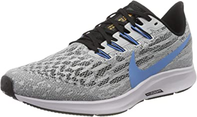 Nike Air Zoom Pegasus 36, Zapatillas de Running para Hombre, Blanco (White/University Blue-Black 101), 40 EU: Amazon.es: Zapatos y complementos