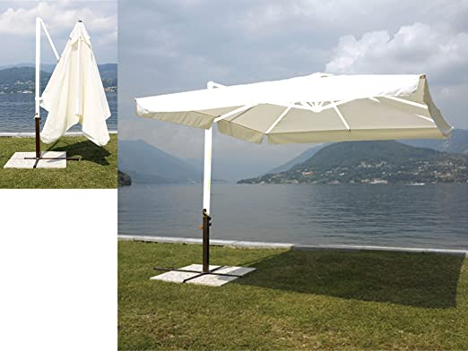 HOME Sombrilla de jardín con Palo Lateral 3 x 3 m, de Aluminio: Amazon.es: Hogar