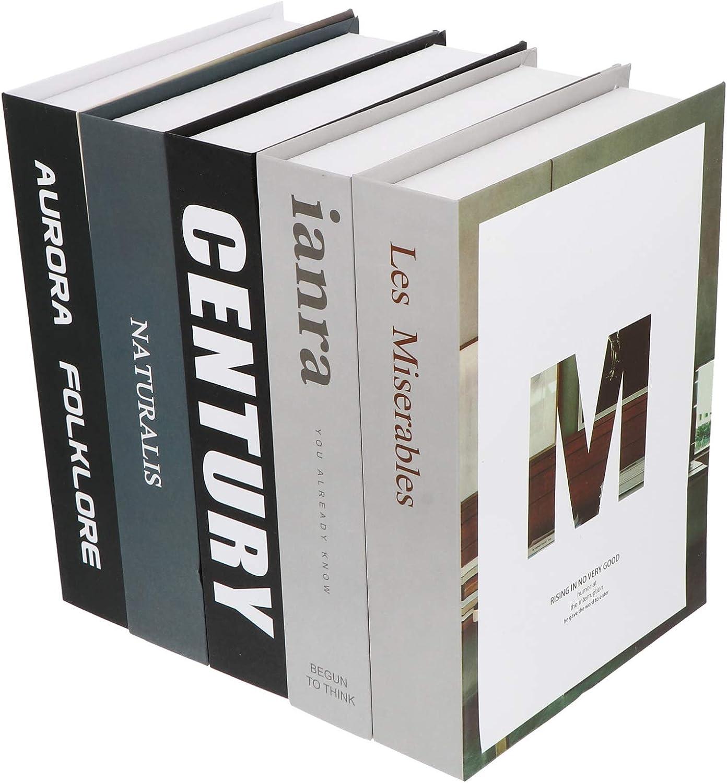 TOYANDONA 5 Pezzi di Stile Moderno Libri Finti Libri Decorativi Libri di Decorazioni per La Casa Riempire Uno Scaffale Pila Home Office Coofee Libreria Scaffale Negozio