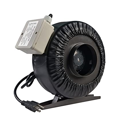 VIVOSUN 4//6//8 Inch Inline DuctVentilation Fan w//Speed Controller for Grow TentUS