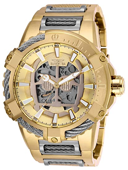 Amazon.com: Invicta Mens Star Wars Automatic Stainless Steel Watch, Color:Gold-Toned (Model: 26205): Watches