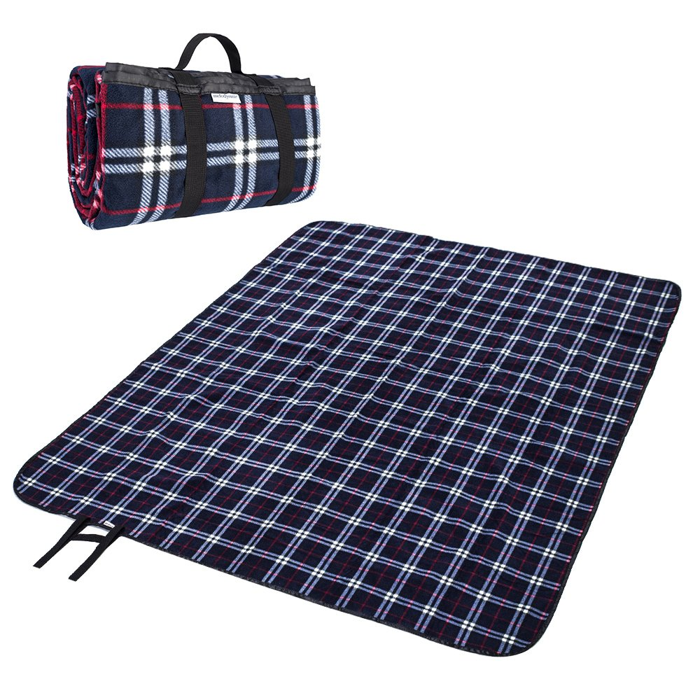MelodySusie Fleece Outdoor Picnic Blanket Washable Extra Large 70x78 Foldable Water-Resistant Picnic Blanket Camping Tote Mat Outdoor Hiking Camping Travelling