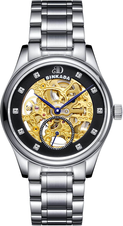 BINKADA自動機械ブラックダイヤルHisメンズ腕時計# 7001 a01 – 2 B00Y7GVJHQ