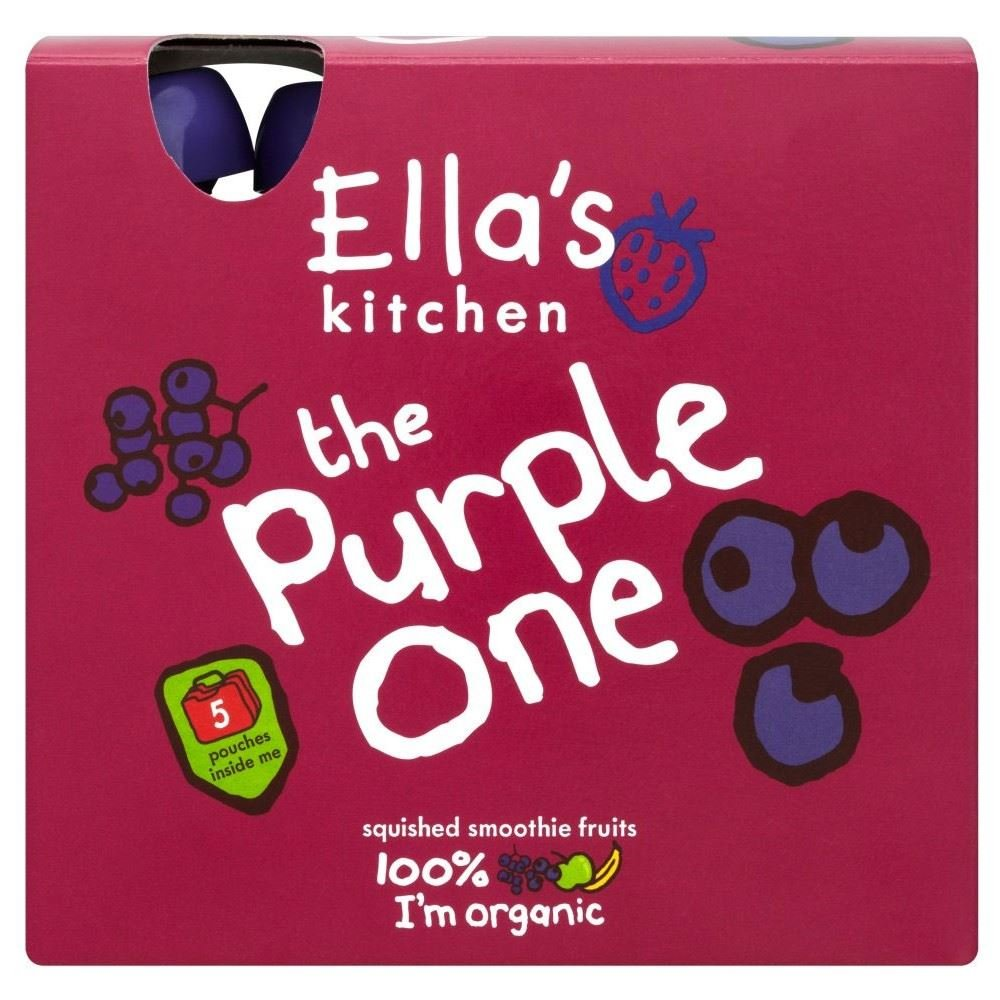 Ella's Kitchen the Purple One Organic Squished Smoothie Fruits (5x90g) Grocery