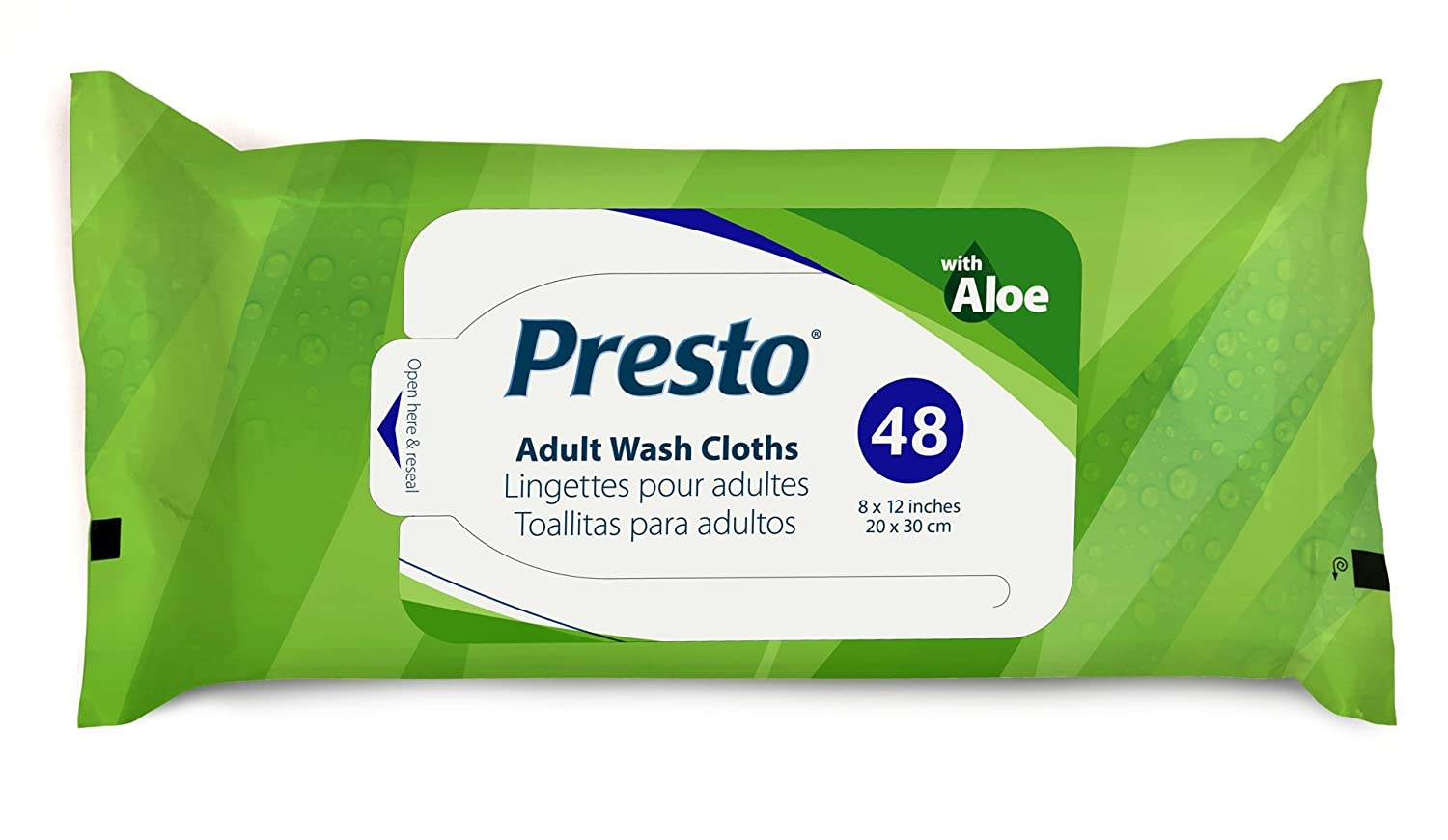 Amazon.com: Presto Plus Hypoallergenic Adult Wash Cloths - 8